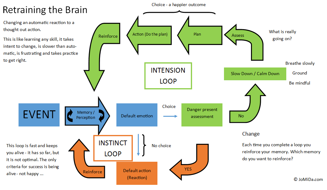 Retraining the brain diagram